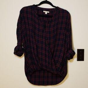 Miami Wrap Flannel top